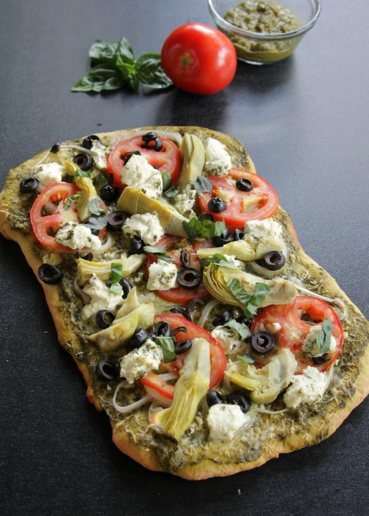 Pesto Pizza | delish | Pinterest