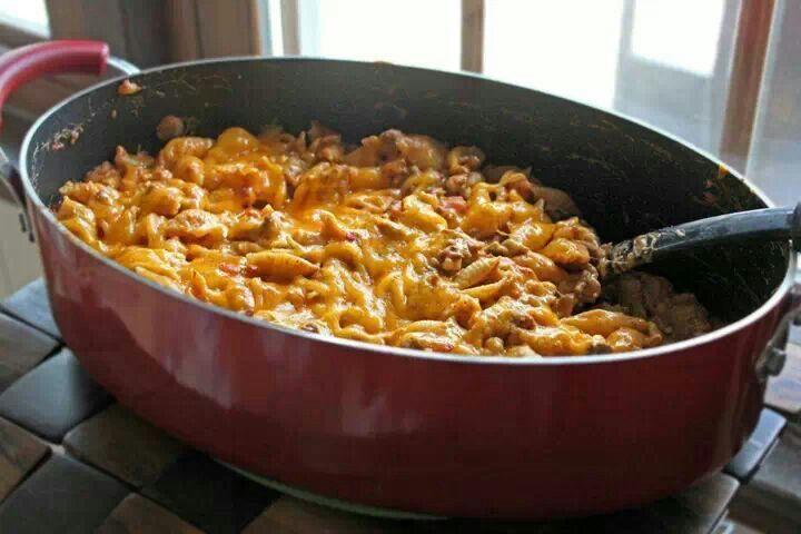 Taco pasta bake | What's for dinner | Pinterest