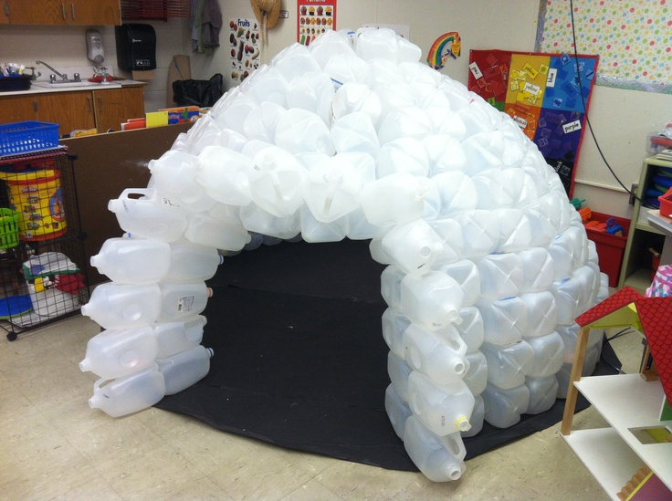 I made an igloo out of milk jugs alisha pinterest for How to build an igloo out of milk jugs