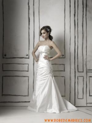 Robe de mariée sirène taffetas perles  Robes de mariée  Pinterest