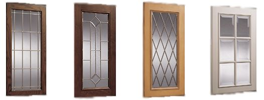 Diamond pattern glass for cabinets with glass
