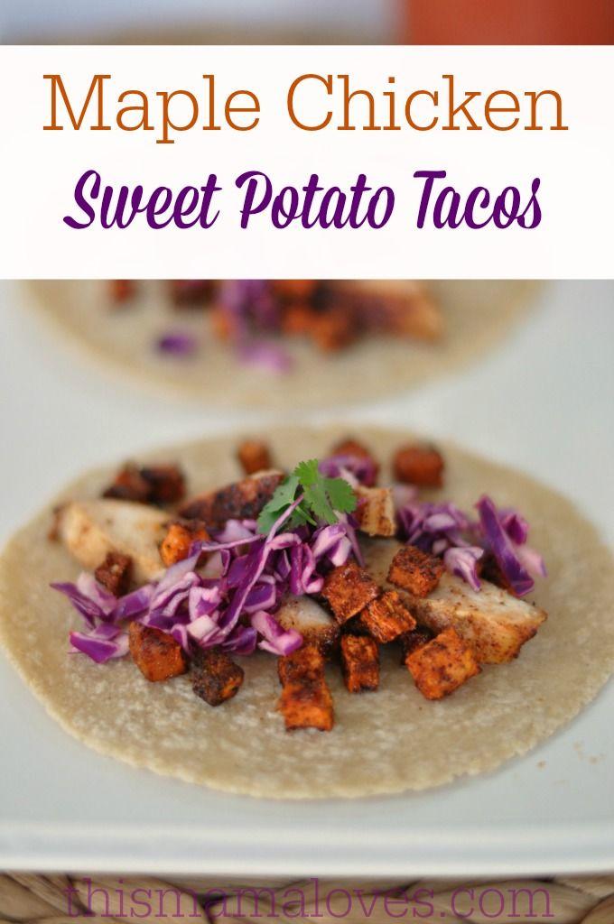 Maple Glazed Chicken and Sweet Potato Tacos | Recipe