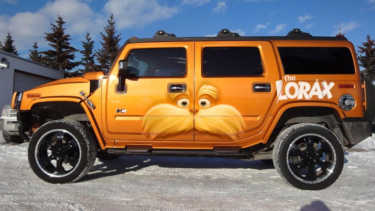 Lorax hummer wrap car wrapping pinterest for Christina hummer