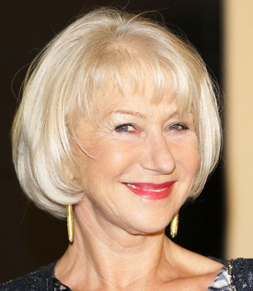 Helen Mirren's Bob With Bangs