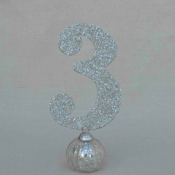 German Glitter Glass Table Numbers $7.50