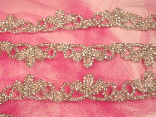 0427  Crystal Clear Rhinestone Elegant Tiarra Bridal Trim  0427-slcr. $41.99, via Etsy.