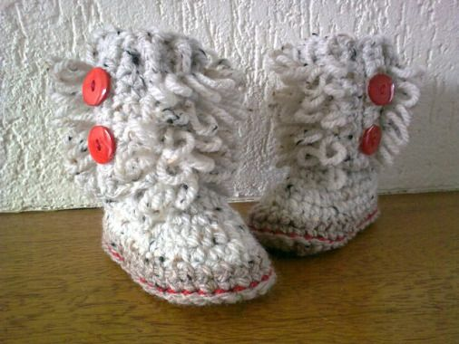 Crochet New Stitches Pinterest : Loopy Baby Booties New Crochet Patterns Pinterest