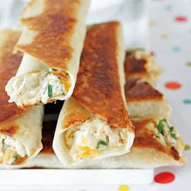 Chubby Chicken and Cream Cheese Taquitos-I added homemade molé to ...