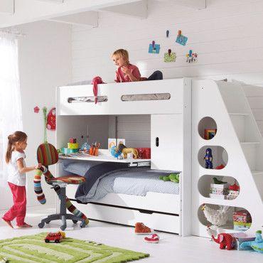 lit superpos 3 places d co chambre enfants pinterest. Black Bedroom Furniture Sets. Home Design Ideas