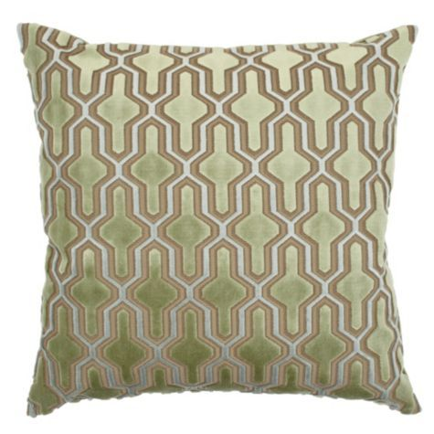 Green Velvet Pillow (Z Gallerie)
