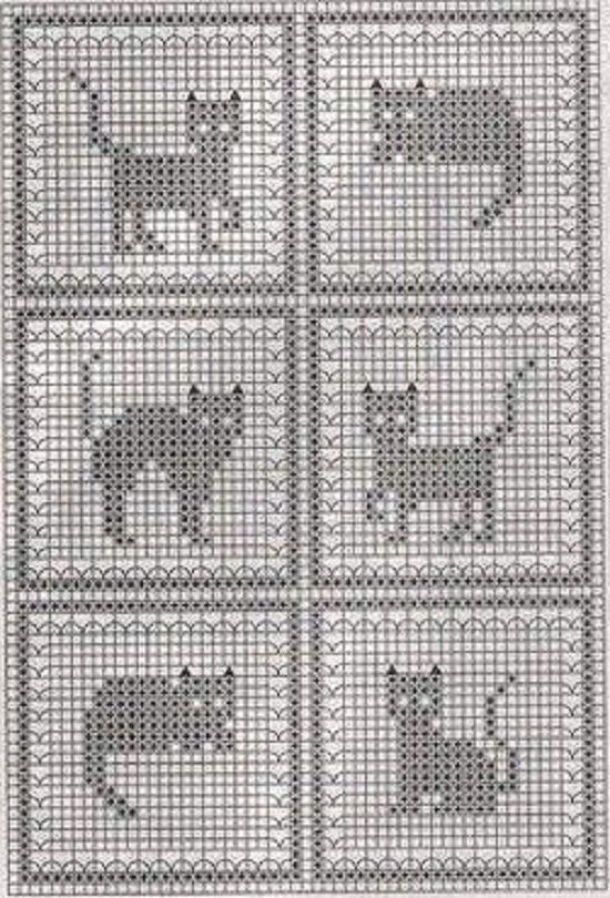 Орнамент кошки для вязания спицами схемы 88