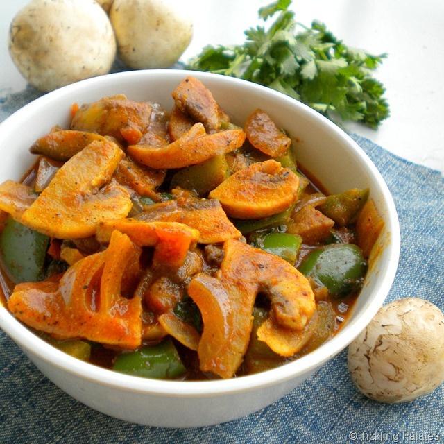 Mushroom Pepper Fry / Pepper Mushrooms