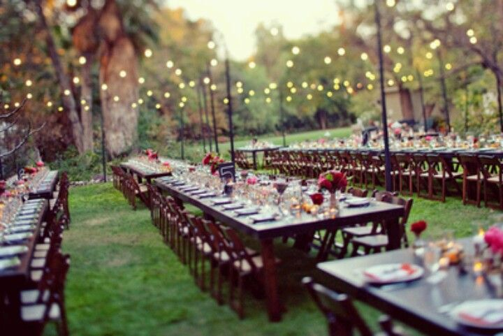 Outdoor backyard wedding reception ideas