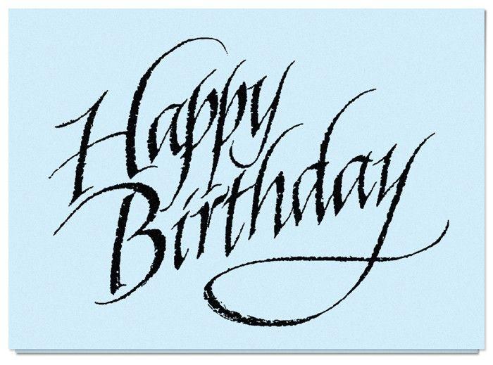 Happy Birthday Modern Calligraphy Pinterest