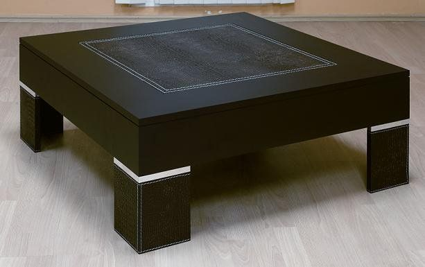 Zeus square coffee table with leather top buy coffee table product Square leather coffee table
