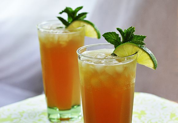 Bubbly Mint-Lime Iced Tea | Recipe