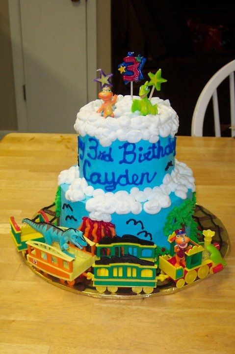 I bought the same Train for Teaghan's cake!! someone else had kind of the same idea cool!!
