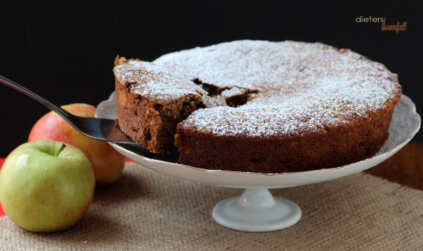 Simple Spiced Applesauce Cake filled with Apples, Pecans, and Raisins ...