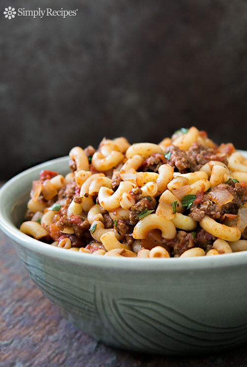 "Hamburger and Macaroni! Others call it ""goulash"" or even ""Amer..."