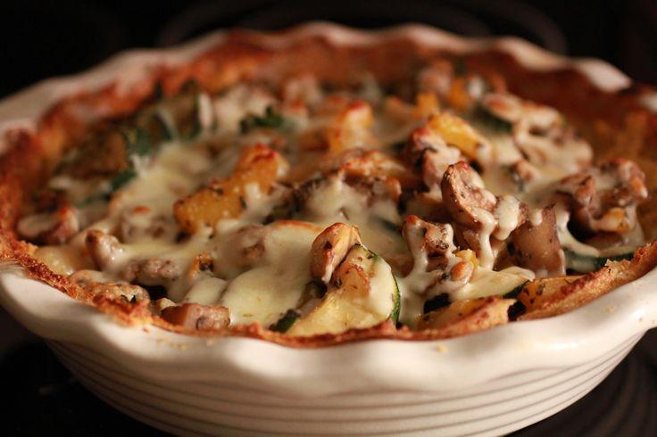 Vegetable Polenta Pie | WeeklyGreens.com | Vegetarian Main Courses ...