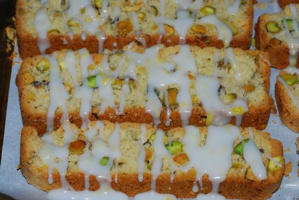 More like this: pistachios , biscotti and lemon .