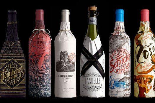 Stranger & Stranger has designed labels for wine bottles