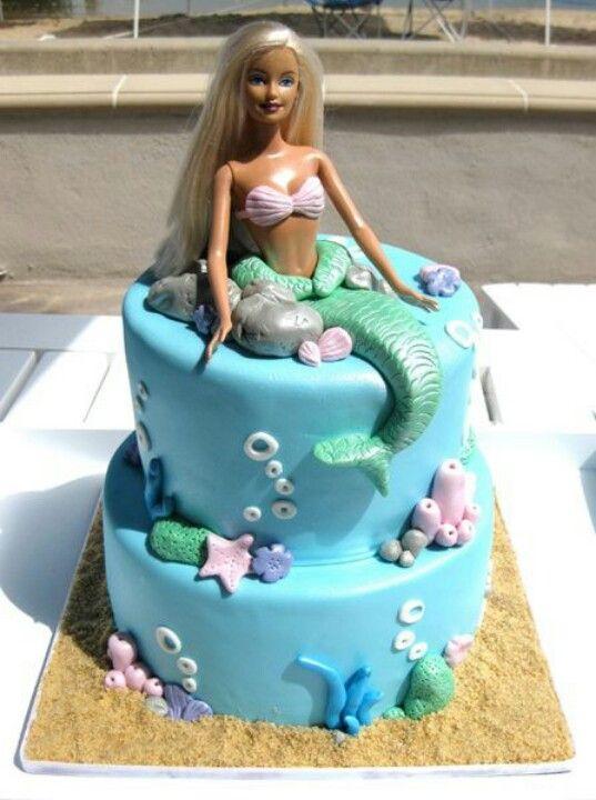 how to make a mermaid doll cake