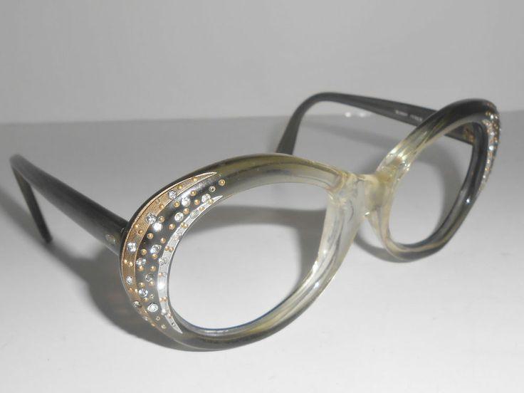 Rhinestone Eyeglass Frames Vintage Sophia SJ Made In Italy