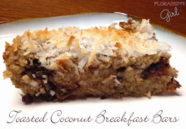 Toasted Coconut Breakfast Bars