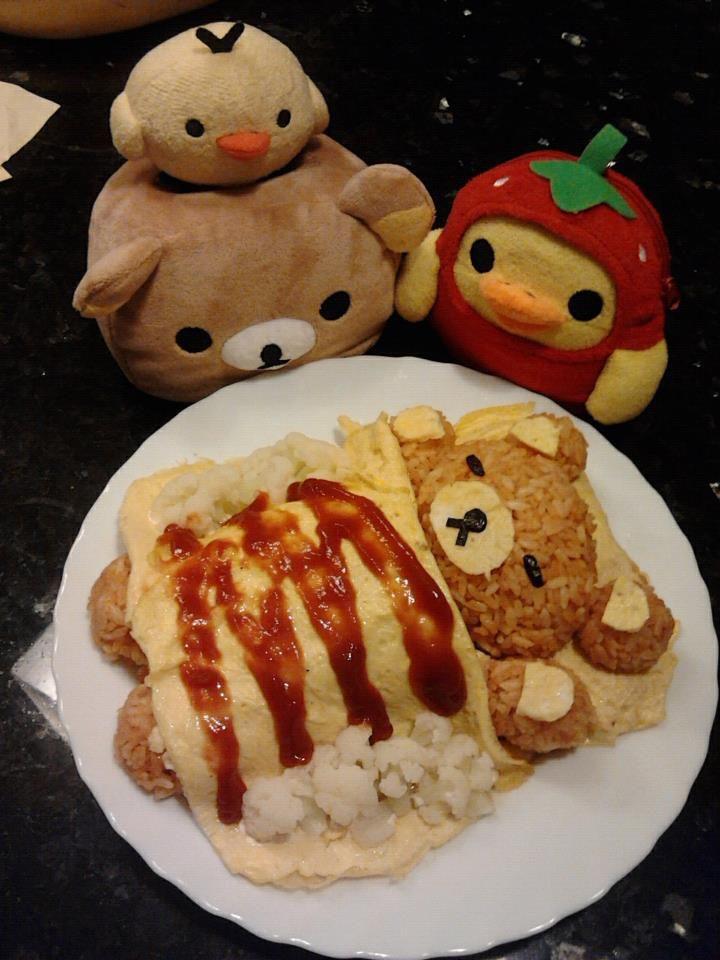 Rilakkuma Omurice Desu ♥ Bento   sushi   Pinterest