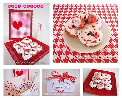 valentine donuts | Eat it | Pinterest