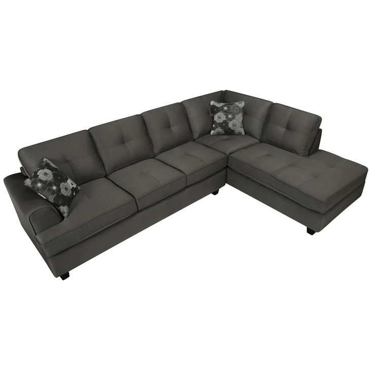 Chase charcoal grey sectional sofa for Charcoal sofa