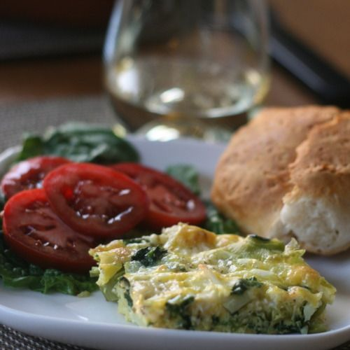 leek, spinach and cauliflower frittata | looks yummy | Pinterest