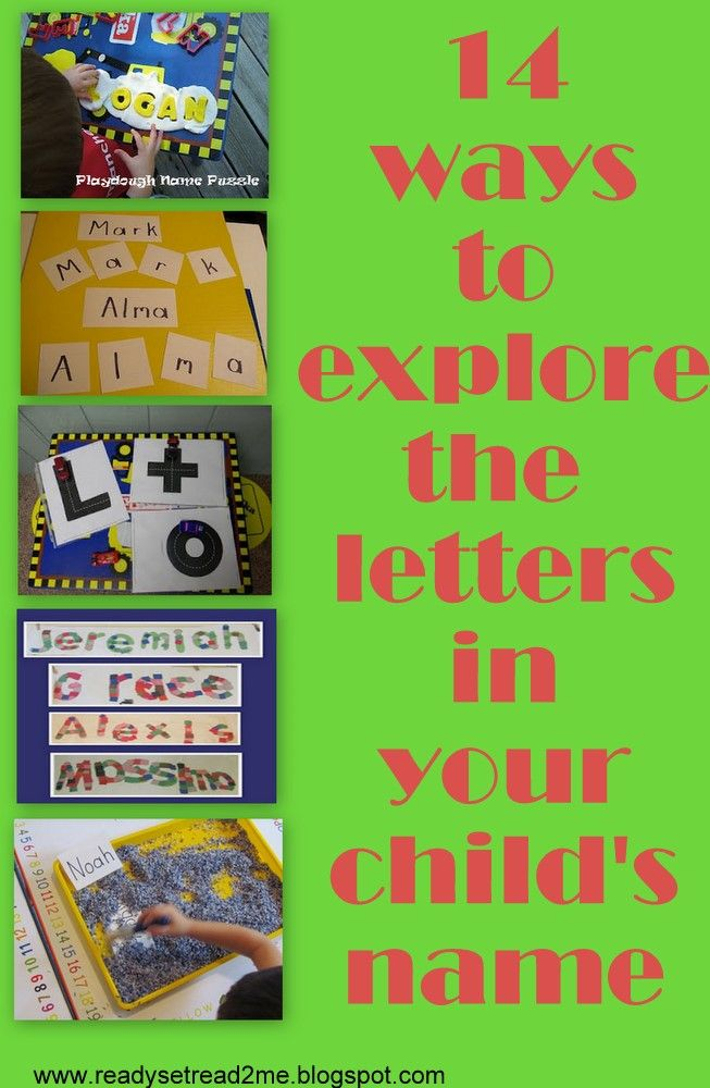 Ready. Set. Read!: 14 Ways to Explore the Letters in Your Child's Name