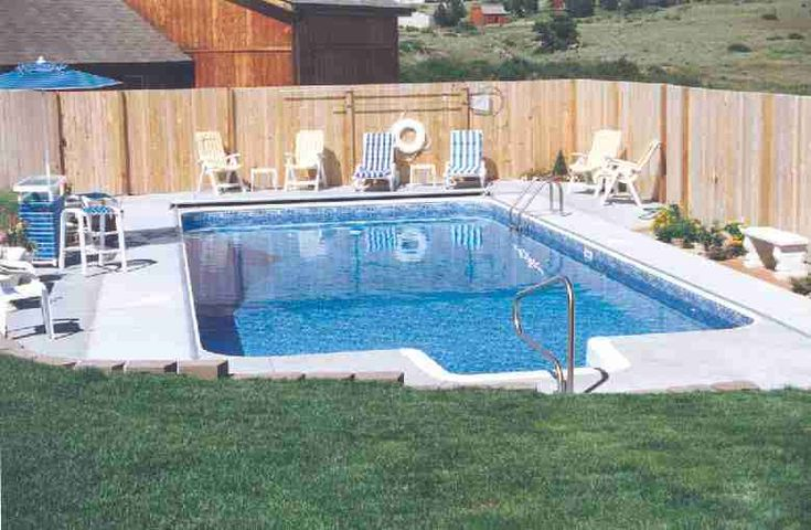 Backyard swimming pools google search outdoor living for In ground pool fence ideas