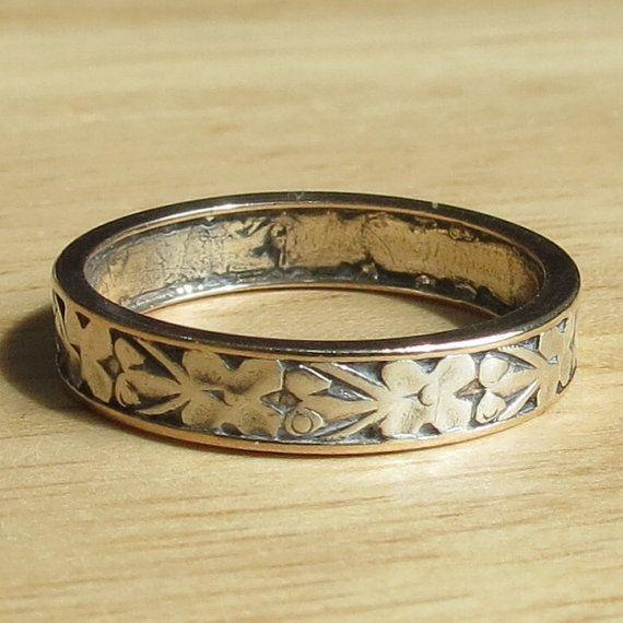 antique silver wedding ring 1900 1930