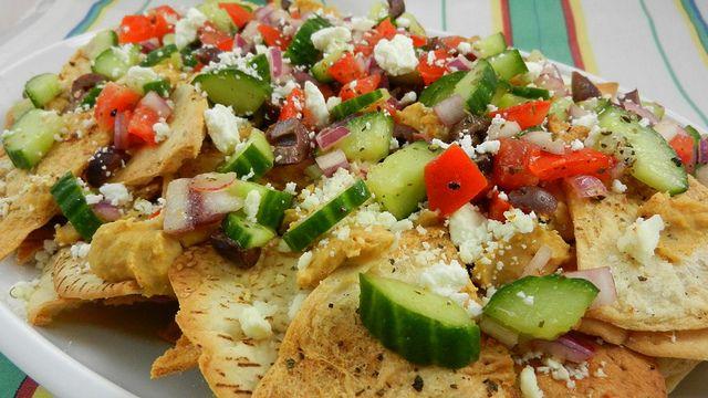 greek nachos | It's Greek to Me! | Pinterest