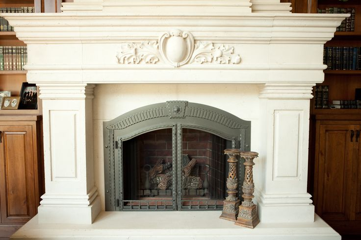 Pin by stone mountain castings design on fireplace for Concrete mantels and hearths