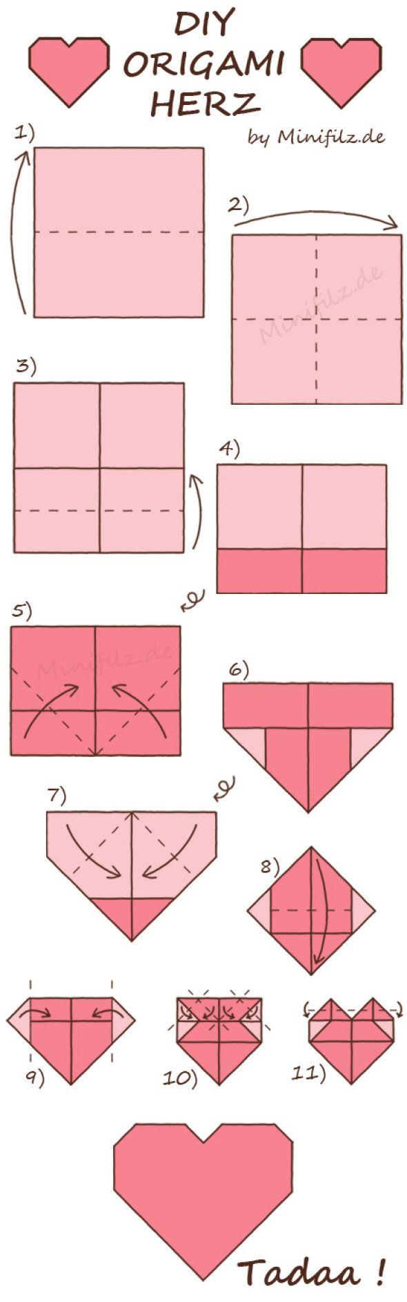 origami herz falten books worth reading pinterest. Black Bedroom Furniture Sets. Home Design Ideas