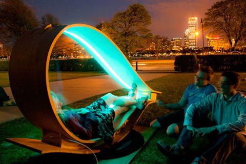 solar powered lounge chair furniture pinterest