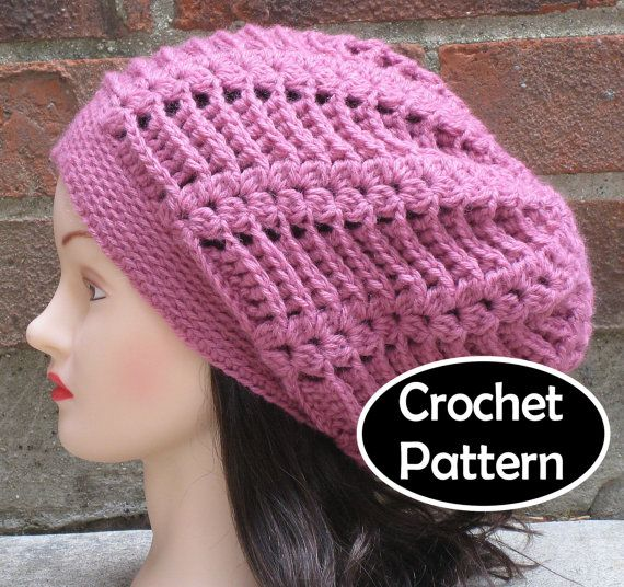 Crochet Patterns Pdf Free Download : CROCHET HAT PATTERN Pdf Instant Download - Gabrielle Slouchy Beanie H ...