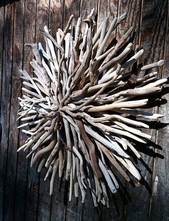 driftwood wall art celestial sunburst driftwood sculpture. Black Bedroom Furniture Sets. Home Design Ideas