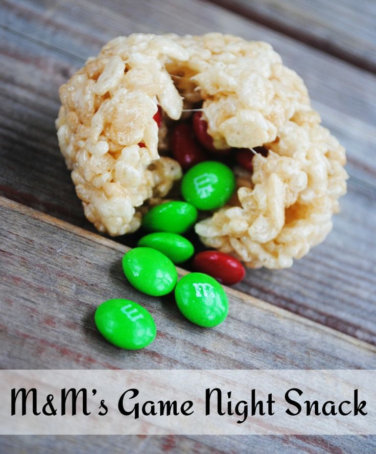 M&M's Game Night Snack
