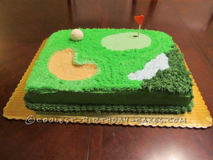 Birthday Cake Ideas Golf : Tee Time Golf Cake