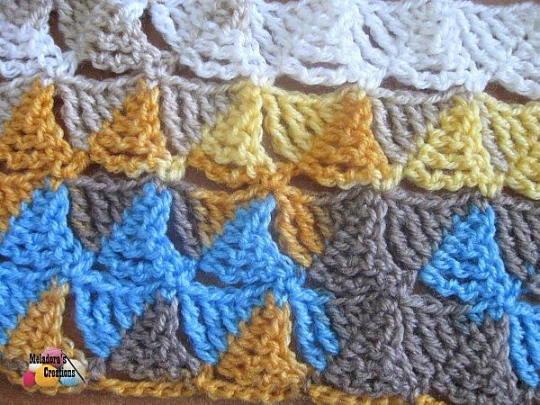 Crochet Stitches Meladora : Meladoras Creation Wedge Stitch - Free Crochet Pattern - Meladoras ...