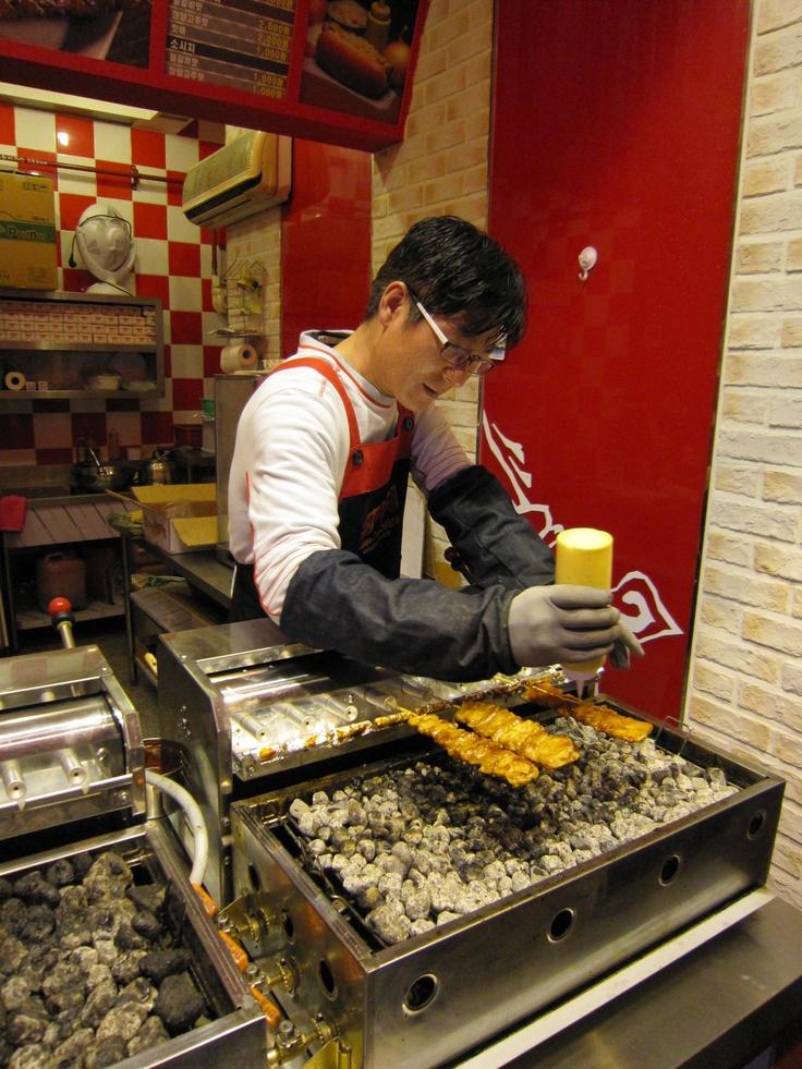 Korean BBQ Chicken Skewers - Street Food | Korea | Pinterest