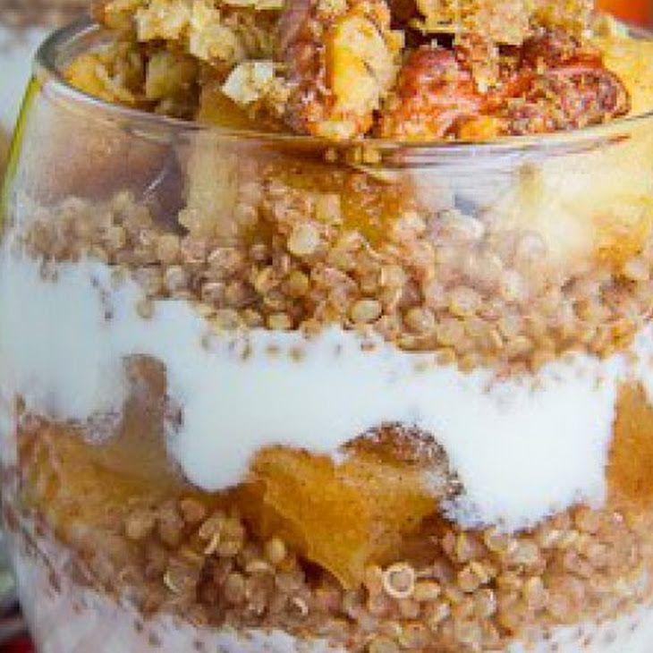 Apple Crumble Quinoa Parfait Recipe — Dishmaps