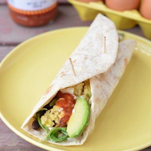 Vegetarian Breakfast Burritos HealthyAperture.com