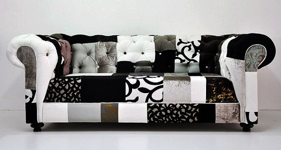 Patchwork sofa patchwork upholstery pinterest for Sofa patchwork