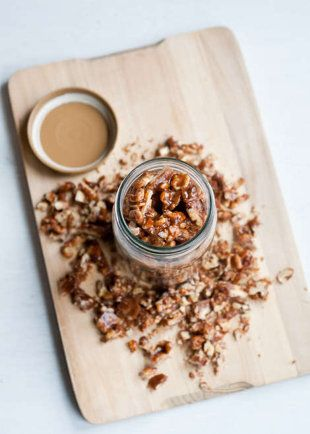 Spicy and Salty Vegan Candied Walnuts | Food | Pinterest
